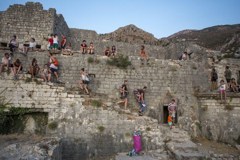 Montenegro. Kotor bay. August 23, 2017. royalty free stock images