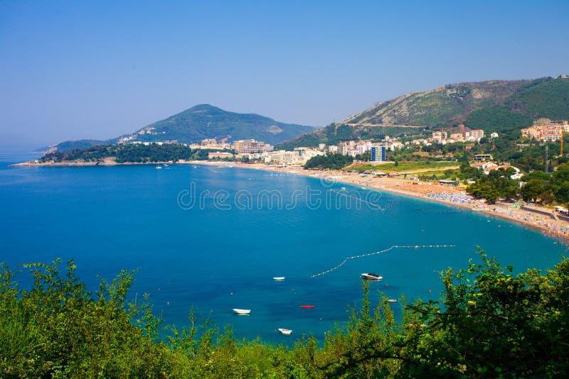 Montenegro kust fotografering för bildbyråer