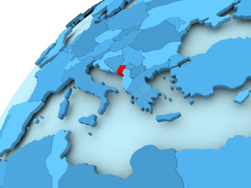 Montenegro op blauwe bol royalty-vrije illustratie