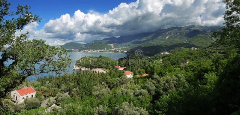 Montenegro. Panoramische Ansicht. stockbilder