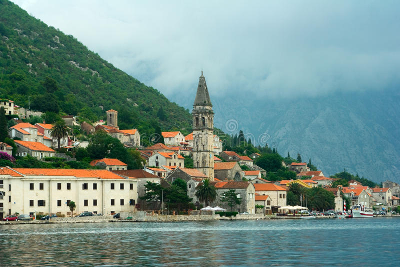 montenegro perast城镇 免版税图库摄影