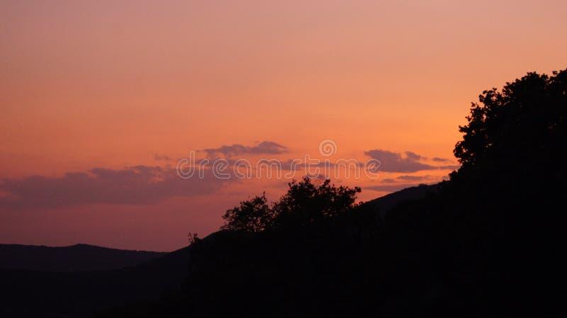 Montenegro por puesta del sol fotos de archivo