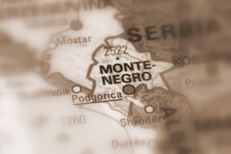 Montenegro, Southeastern Europe. Montenegro, a state in Southeastern Europe selective sepia focus background stock photos