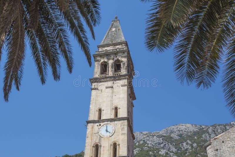 montenegro Stadt alte Stange der Glockenturm in der alten Festung lizenzfreies stockfoto
