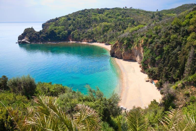 Montenegro strand-1 stock afbeeldingen