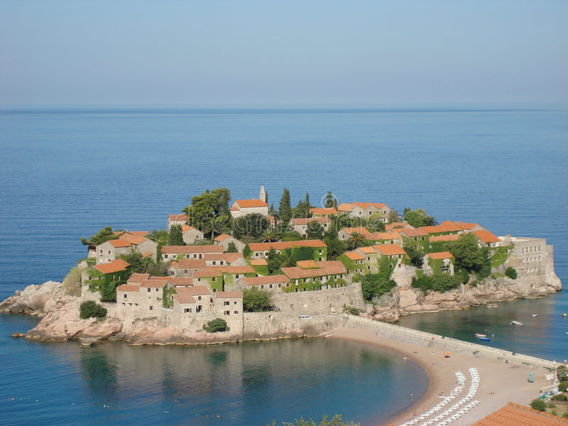 Montenegro, Sveti Stefan fotografia de stock