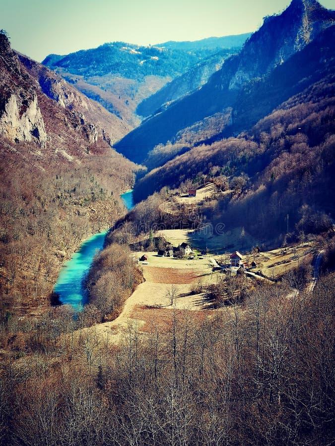 Montenegro, Tara riviermening stock fotografie