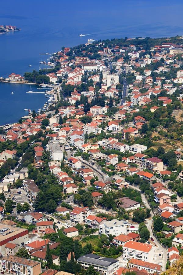 Montenegro widok nad zatoką fotografia royalty free