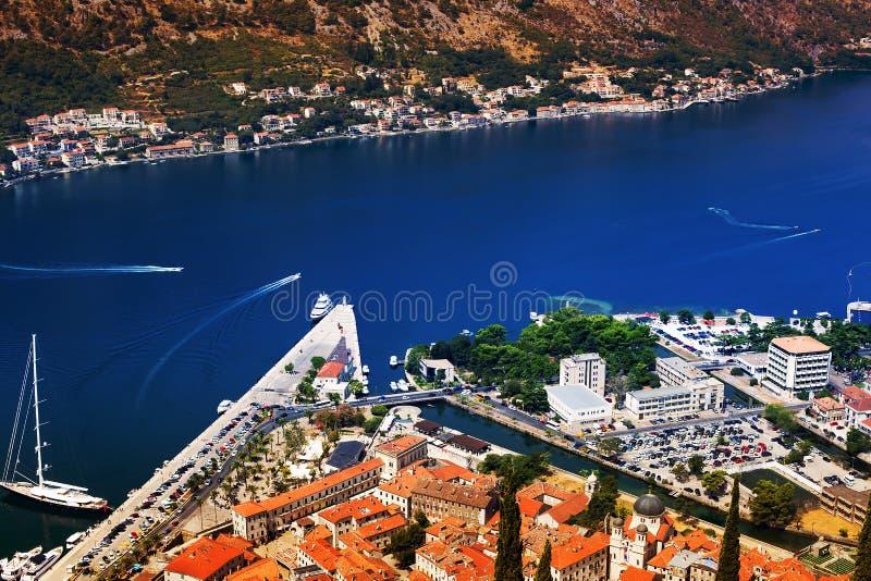 Montenegro widok nad zatoką fotografia stock