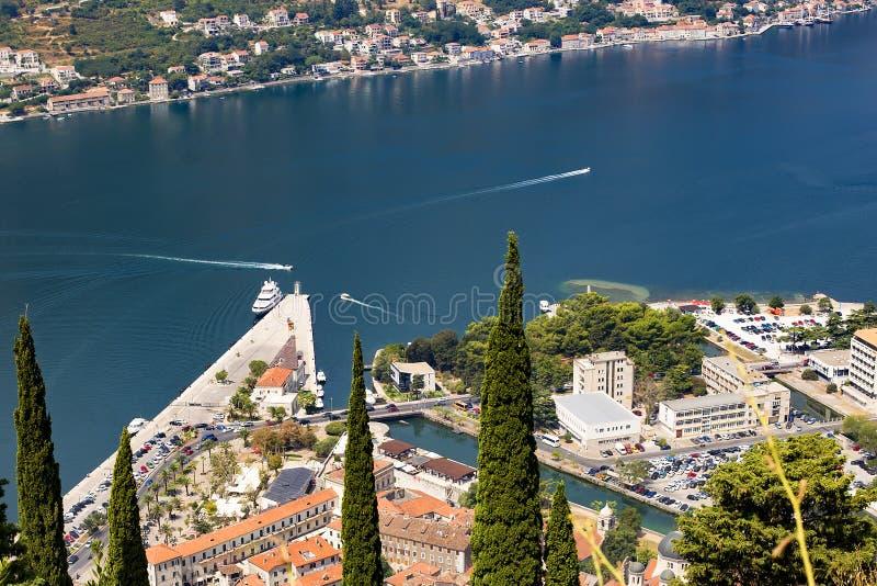 Montenegro widok nad zatoką zdjęcie stock
