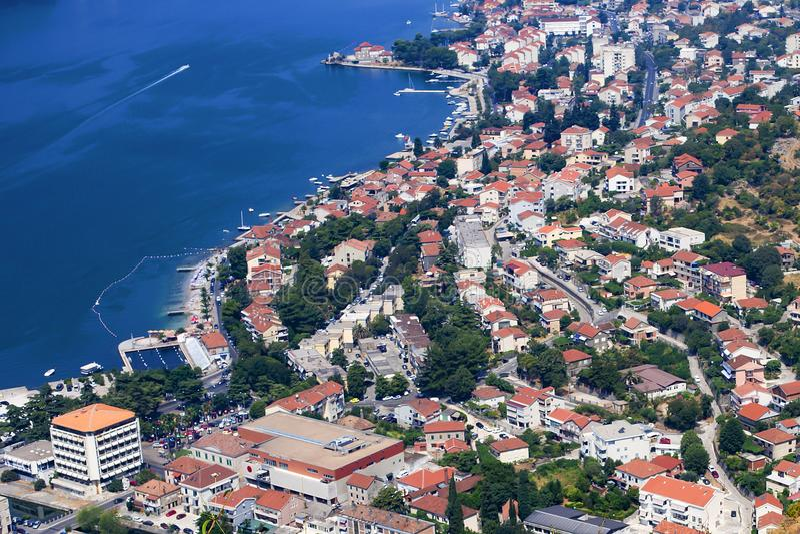 Montenegro widok nad zatoką obraz stock