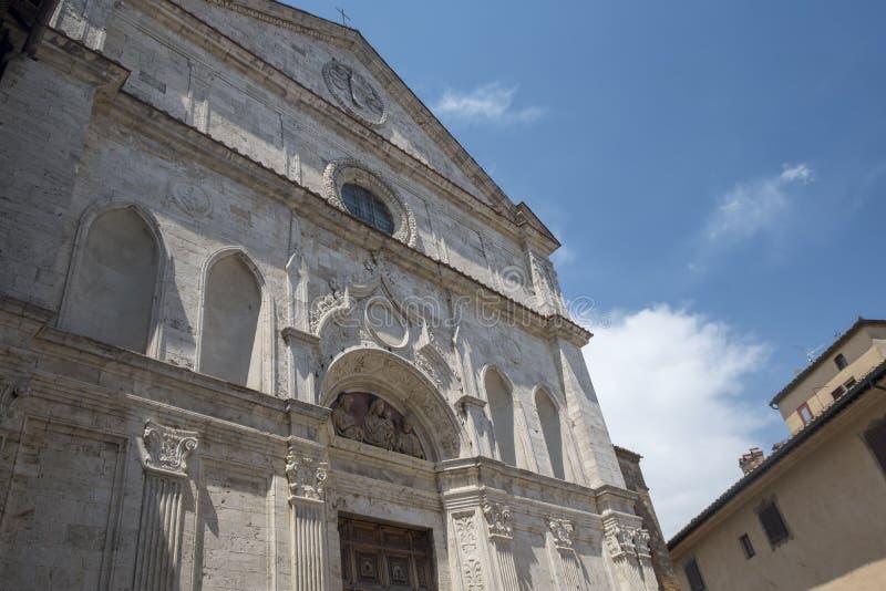 Montepulciano, Сиена, Италия: исторические здания стоковое изображение