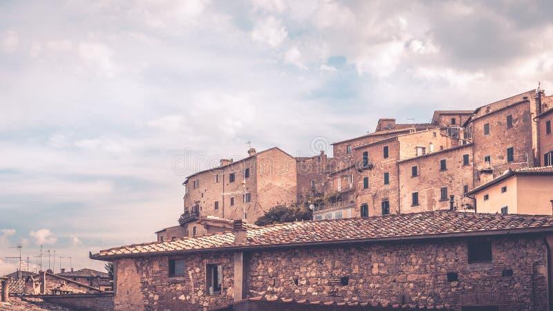 Montepulciano, Тоскана стоковые изображения