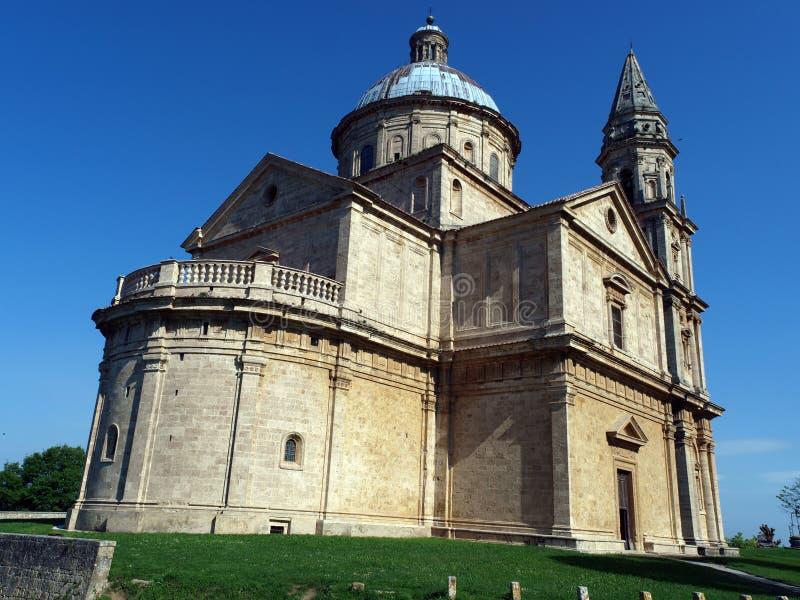 Montepulciano. The Sanctuary Of The Madonna Di San Biagio, Montepulciano, Tuscany,Italy royalty free stock photos