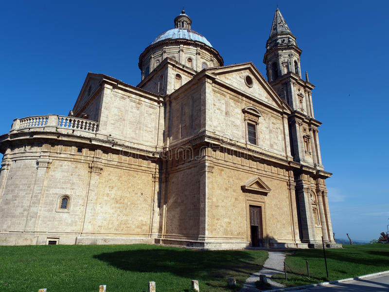 Montepulciano. The Sanctuary Of The Madonna Di San Biagio, Montepulciano, Tuscany,Italy stock image