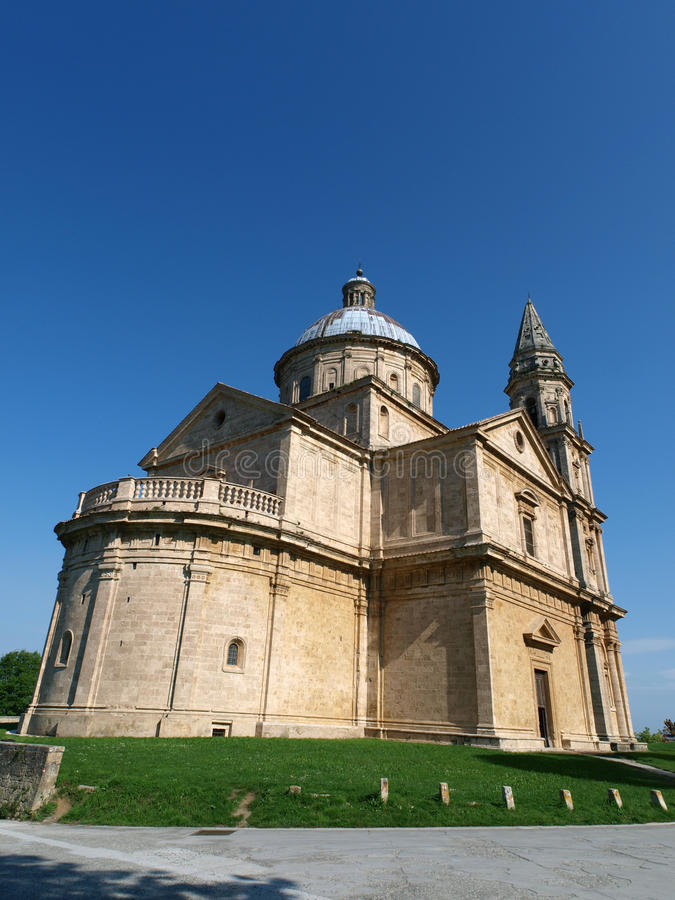 Montepulciano. The Sanctuary Of The Madonna Di San Biagio, Montepulciano, Tuscany,Italy stock photo
