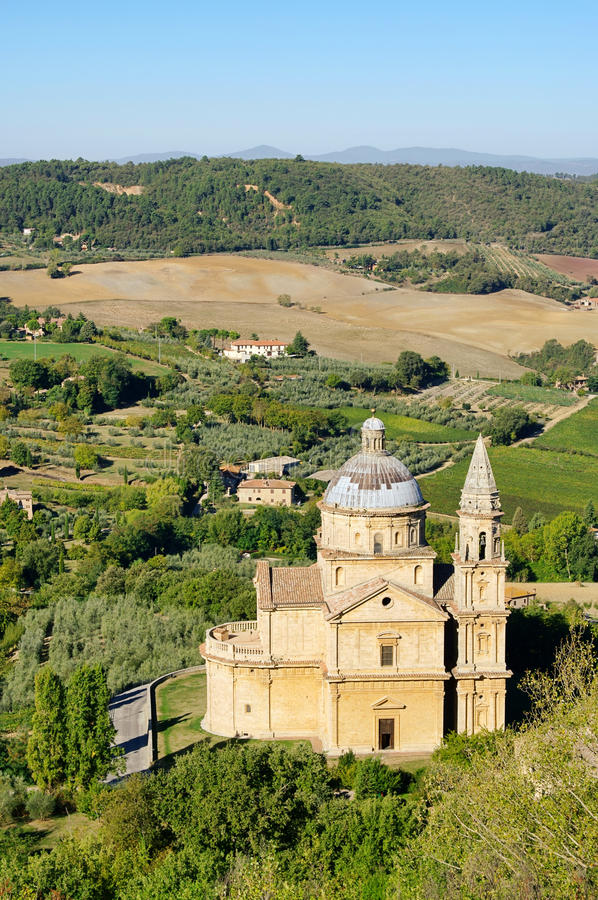 Montepulciano church. Montepulciano, a church in Italy royalty free stock photos