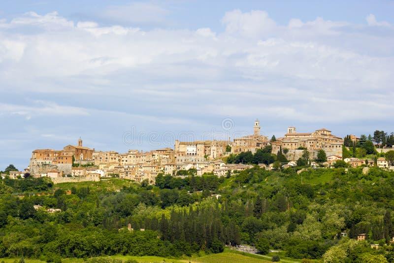 Montepulciano en Toscana imagen de archivo libre de regalías