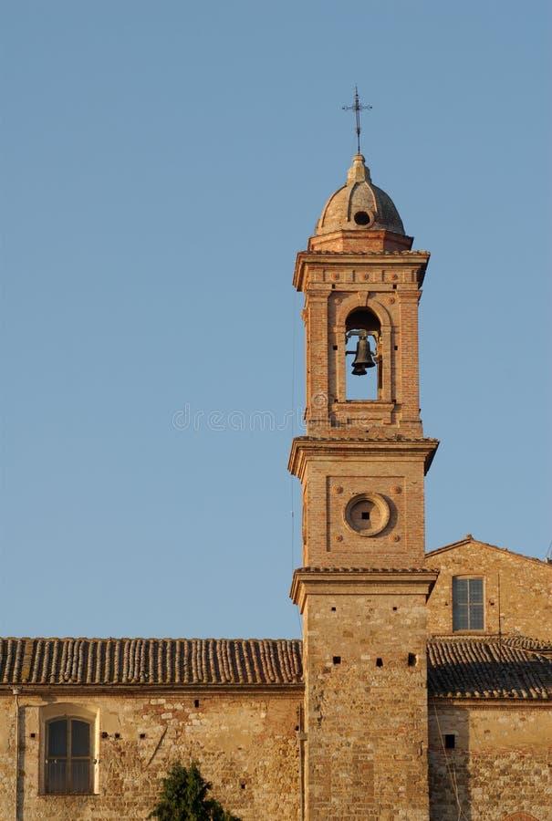 Montepulciano Glockenturm, Italien lizenzfreie stockfotografie