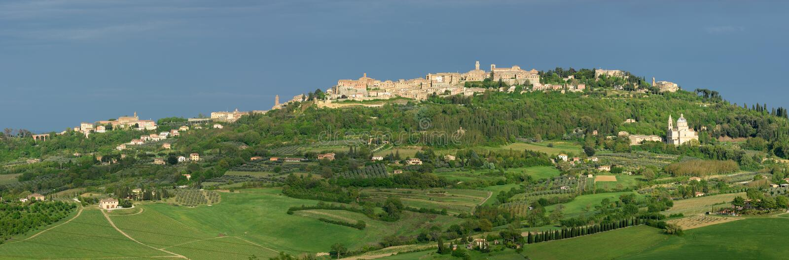 Montepulciano. The historical hill town Montepulciano in southern Tuscany - Italy royalty free stock photos