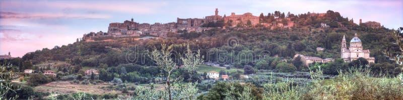 Montepulciano i Tuscany royaltyfria bilder