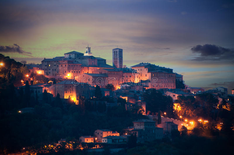 Montepulciano - Italy. Montepulciano town in Italy, by evening royalty free stock photos