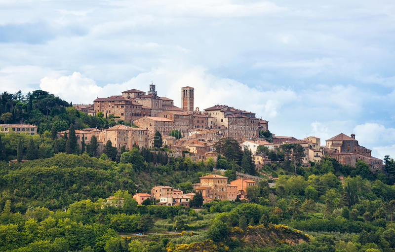 Montepulciano. Landscape of Montepulciano, a small town in Tuscany, Italy stock photography