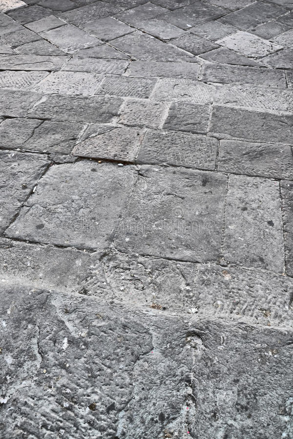 Montepulciano pavement royalty free stock photos