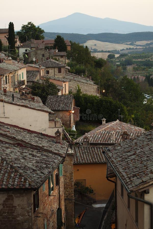 Montepulciano's roof stock photo