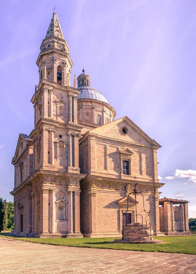 Montepulciano San Biagio church. Exterior of Madonna di San Biagio church in Montepulciano, Italy stock photography