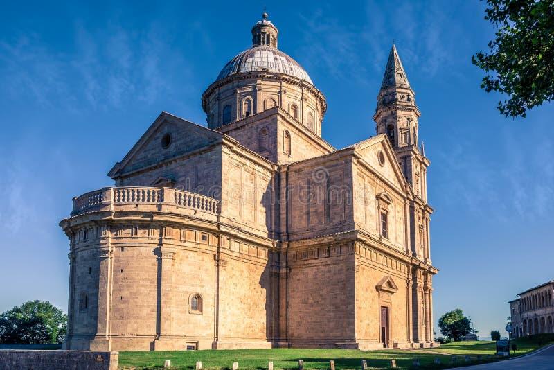 Montepulciano San Biagio church. Exterior of Madonna di San Biagio church in Montepulciano, Italy royalty free stock photos