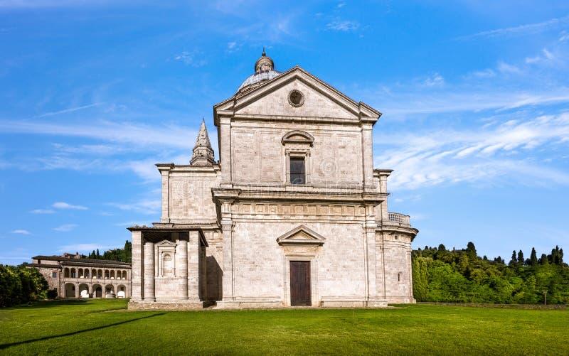 Montepulciano San Biagio church. Exterior of Madonna di San Biagio church in Montepulciano, Italy stock photo