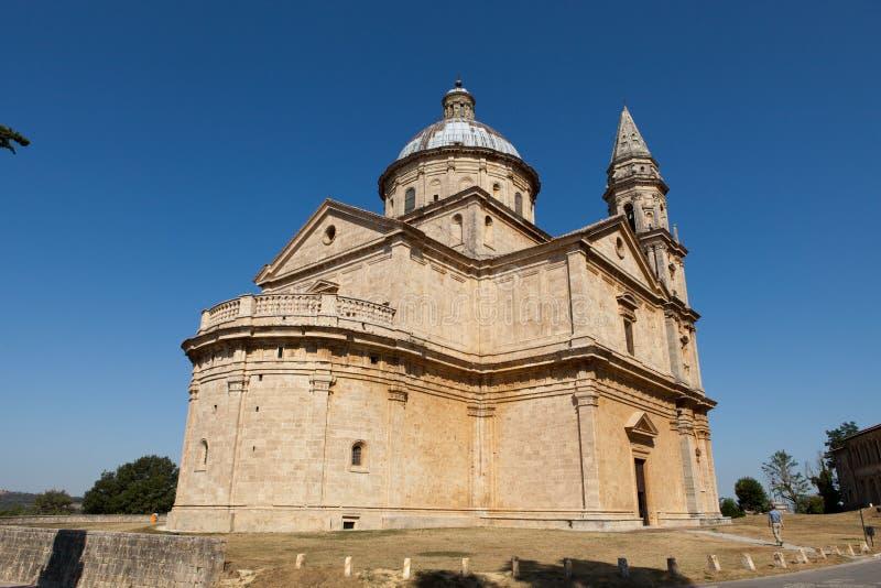 Montepulciano. The Sanctuary Of The Madonna Di San Biagio, Montepulciano, Tuscany, Italy royalty free stock image