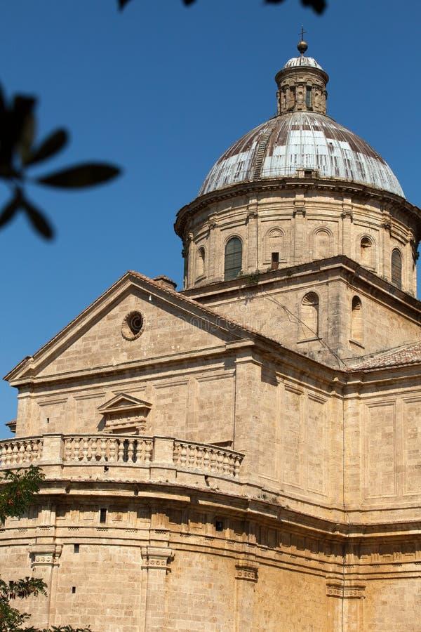 Montepulciano. The Sanctuary Of The Madonna Di San Biagio, Montepulciano, Tuscany, Italy royalty free stock photography