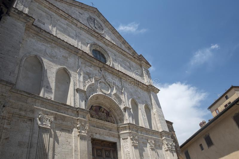 Montepulciano, Siena, Italia: edificios históricos imagen de archivo