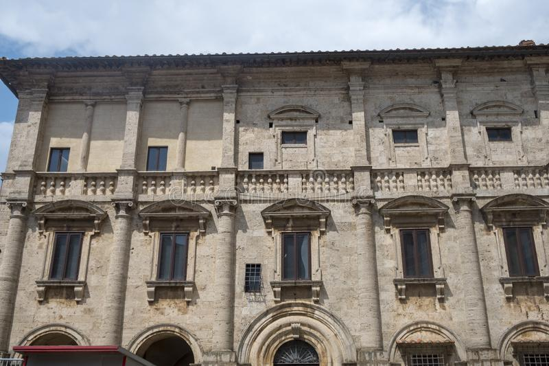 Montepulciano, Siena, Italia: monumenti storici immagine stock libera da diritti