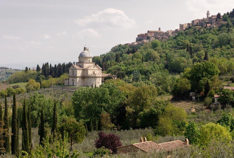 Montepulciano - Toscanië stock fotografie