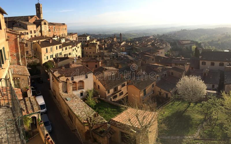 Montepulciano, Toscany, Italy. View of the Montepulciano from the top stock photos