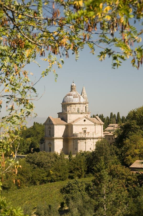 Montepulciano, Tuscany, Italy. Madonna di San Biagio in Montepulciano, Tuscany, Italy stock photography