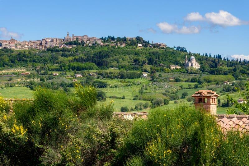 MONTEPULCIANO, TUSCANY/ITALY - 17 MAGGIO: Vista del churc di San Biagio fotografia stock