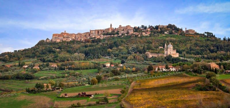Montepulciano, Tuscany, Italy. Old village of Montepulciano in Tuscany, Italy royalty free stock images