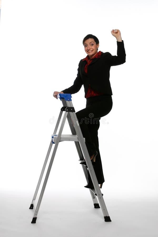 Monter l'échelle de corporation photographie stock