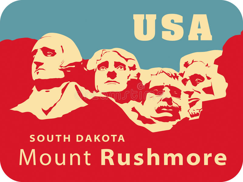 montera rushmore royaltyfri illustrationer