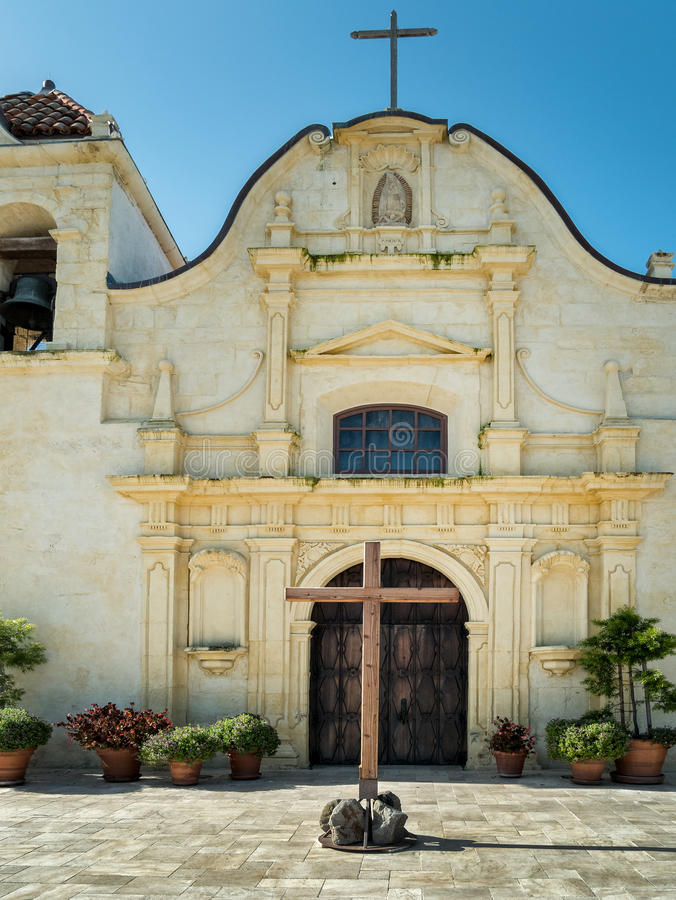 Monterey, Californië, San Carlos Cathedral stock foto's