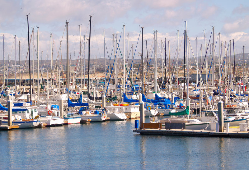 Monterey-Jachthafen stockfotografie