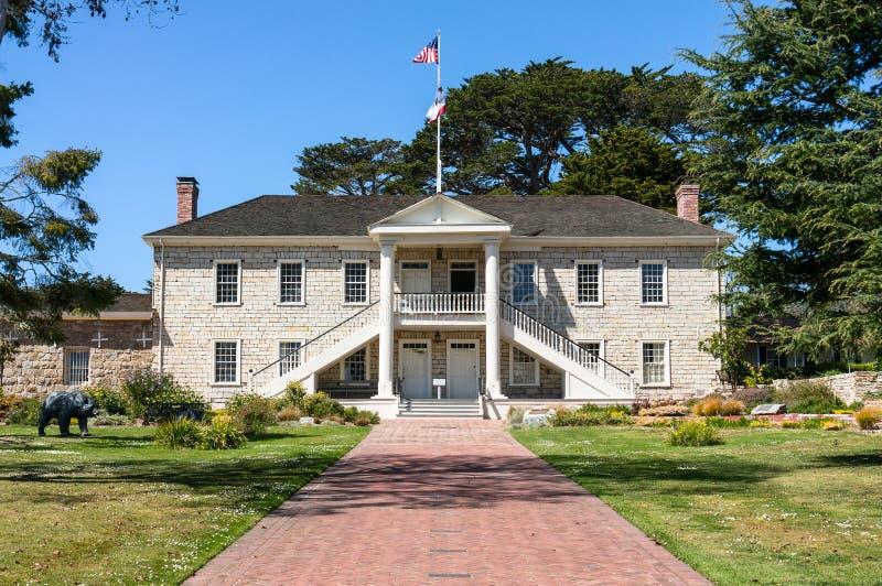 Colton Hall in Monterey, Kalifornien stockfotos