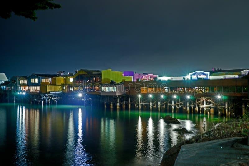 Monterey Pier Night foto de stock