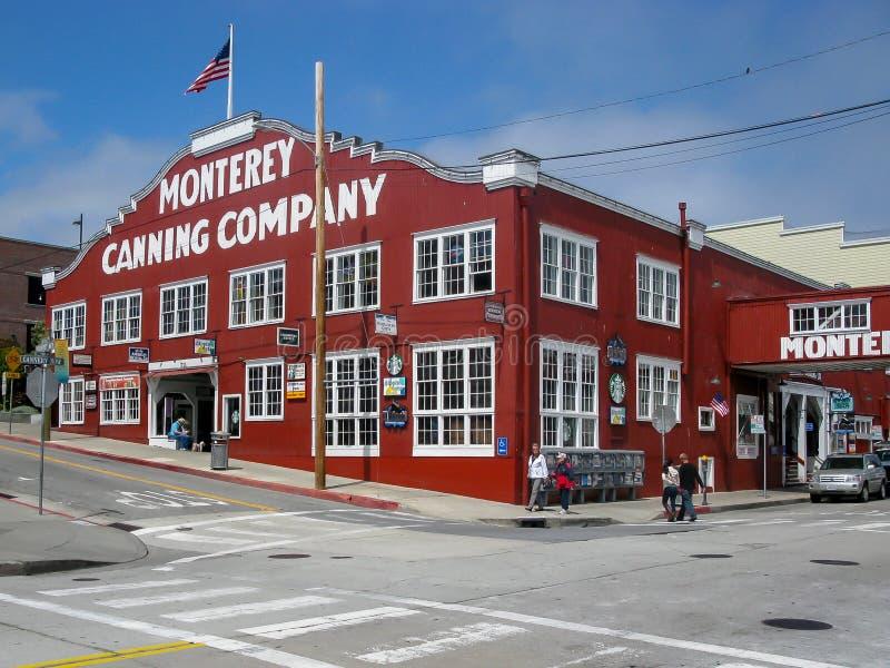 Monterey Sardiner Canning Företag CA royaltyfri bild