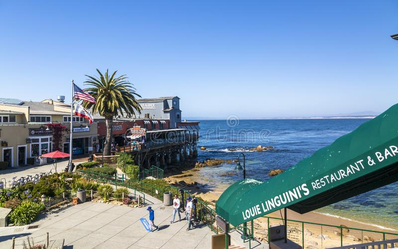 Monterey zatoka, półwysep, Monterey, Kalifornia, Stany Zjednoczone Ameryka, Północna Ameryka zdjęcie stock