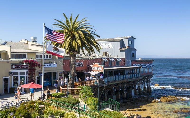 Monterey zatoka, półwysep, Monterey, Kalifornia, Stany Zjednoczone Ameryka, Północna Ameryka obrazy stock